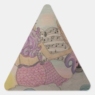 Música da sereia adesivo triangular