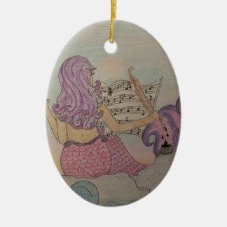 Música da sereia ornamento de cerâmica