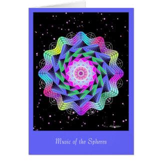 Música das esferas cartão comemorativo