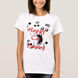 Música de dança musical do divertimento feliz da camiseta