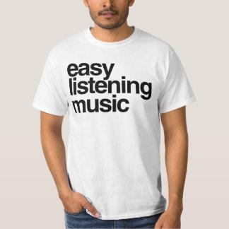 Música de escuta fácil camiseta