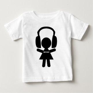 Música de Hip Hop, fones de ouvido, amor do T-shirt