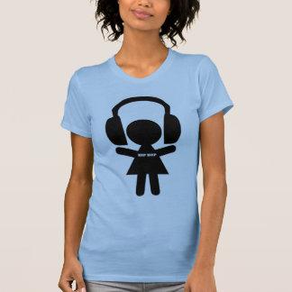 Música de Hip Hop, fones de ouvido, amor do Camiseta