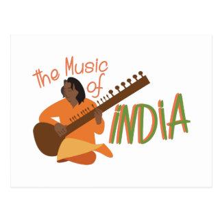Música de India Cartão Postal
