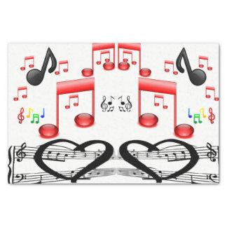 Música decorativa dos músicos do lenço de papel