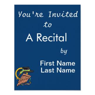 música design.png da fita da flauta da bandeja do convite personalizados