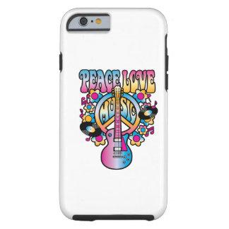 Música do amor da paz capa tough para iPhone 6