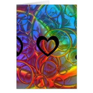Música do amor da paz cartao
