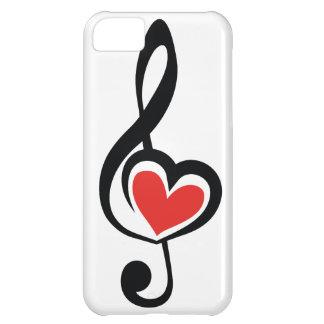 Música do amor do Clef da ilustração Capa Para iPhone 5C