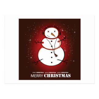 Música do boneco de neve do Feliz Natal Cartão Postal