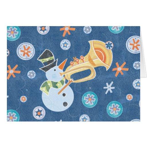 Música do feriado do Natal do fazer do boneco de Cartao