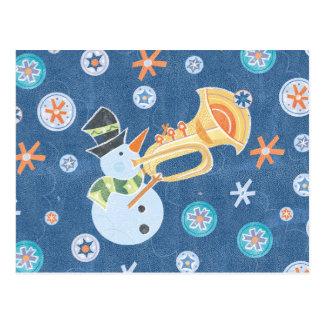 Música do feriado do Natal do fazer do boneco de Cartão Postal