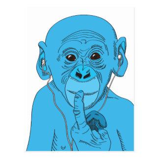 Música do macaco cartão postal
