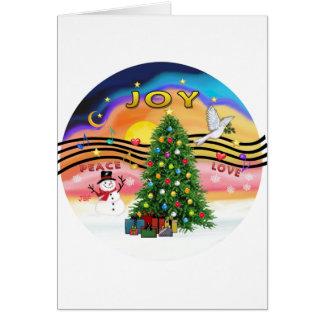 Música do Natal Cartão