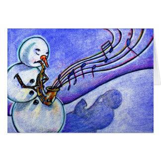 Música do Natal Cartão Comemorativo