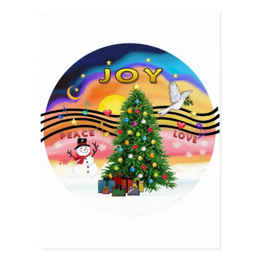Música do Natal Cartões Postais