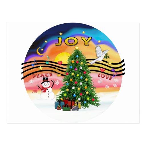 Música do Natal Cartão Postal