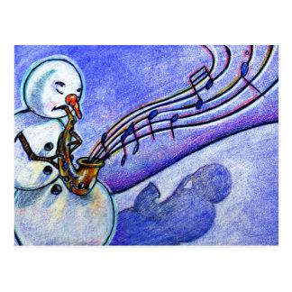 Música do Natal Cartoes Postais