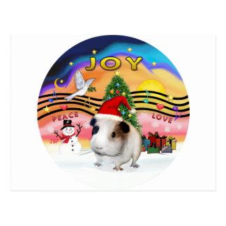Música do Natal - Guiné Pig1 (chapéu) Cartoes Postais