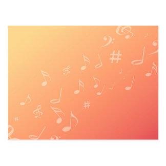 Música do pêssego cartão postal