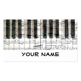 música do piano do teclado do pianista cartão de visita