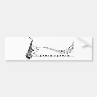 Música do saxofone adesivo