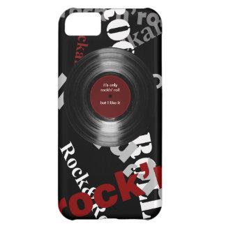 música do ~ somente da rocha & do rolo capa para iPhone 5C