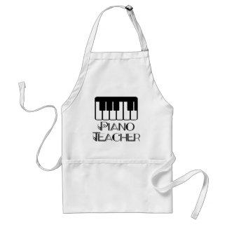 Música do teclado do professor de piano avental