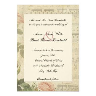 Música do Victorian e convite cor-de-rosa do