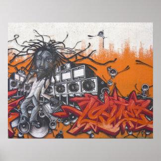 Música dos grafites poster