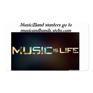 música e banda cartão de visita