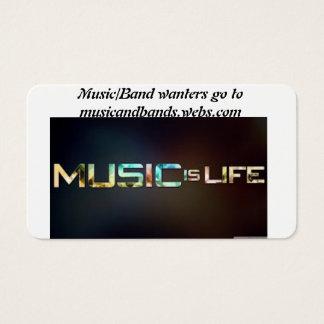 música e banda cartão de visitas