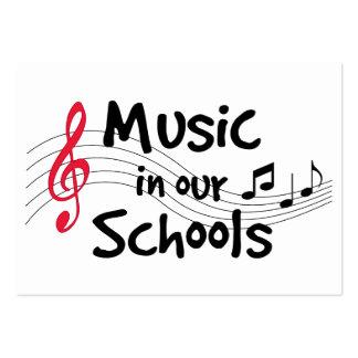 Música em nossas escolas cartão de visita grande