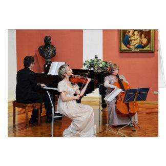 Música em um Salão grande em Rússia Cartão Comemorativo