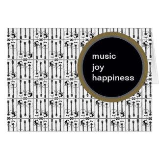 música, guitarra cartão comemorativo