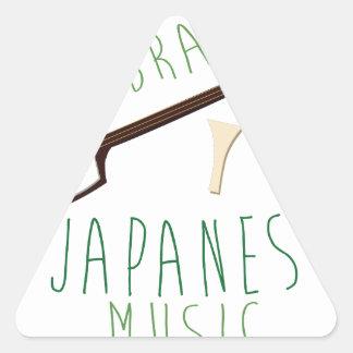 Música japonesa adesivo triangular