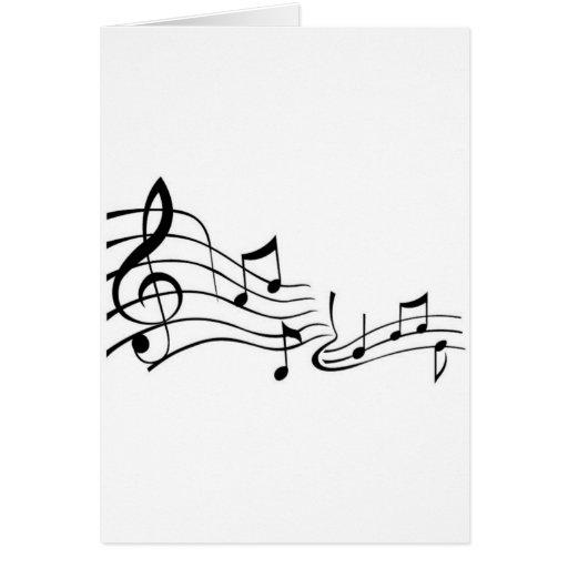 Música (Music) Cartao