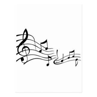 Música (Music) Cartão Postal