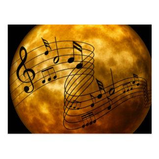 Música, música, música cartão postal