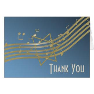 Música no obrigado que do ar você nota cartão de nota