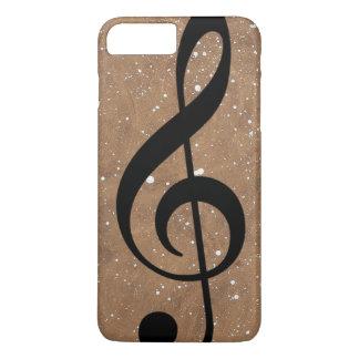 música-nota do preto-triplo-clef capa iPhone 7 plus