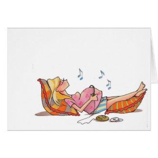 Música Notecard das mulheres gravidas Cartão De Nota
