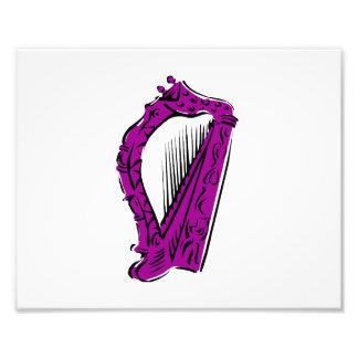 música ornamentado preta roxa design png da harpa fotografia