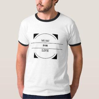 """""""Música para o tshirt dos homens da vida"""" Camiseta"""