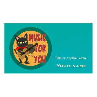 Música para você cartão de visita