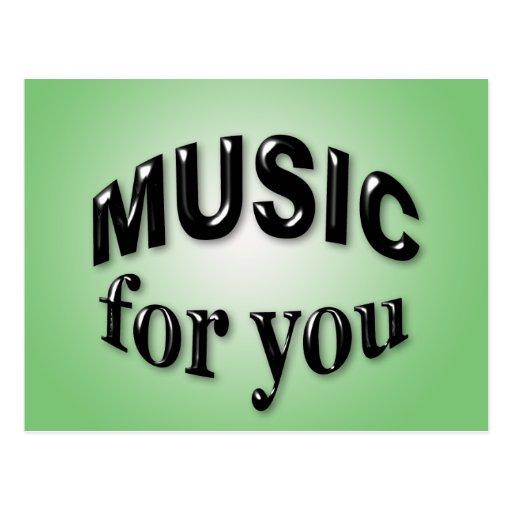 Música para você cartão postal
