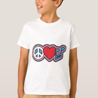 Música patriótica do amor da paz camiseta
