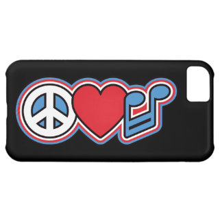 Música patriótica do amor da paz capa para iPhone 5C