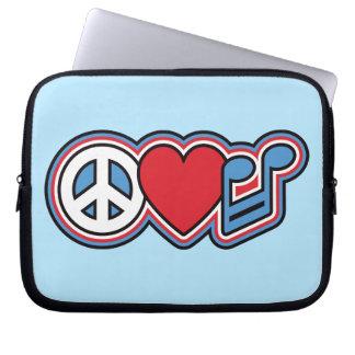 Música patriótica do amor da paz capa para notebook