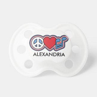 Música patriótica do amor da paz chupeta